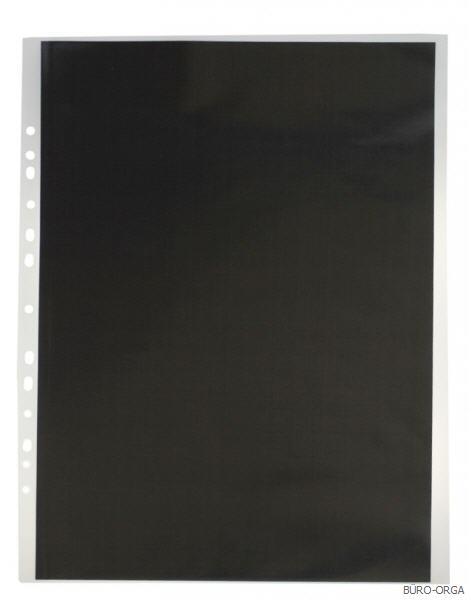 Sichtbuch Sichthüllenmappe nachfüllbar A3 schwarz transparent 20 Hüllen